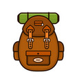 vintage hipster camping backpack vector image