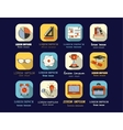 Self study and education themed icons set vector image