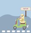 Safe driving on bike vector image