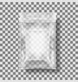transparent packaging for snacks chips sugar vector image