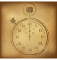 Antique Stopwatch vector image vector image