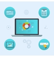 Concept of website analytics and SEO data analysis vector image