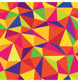 colorful triangle seamless pattern vector image