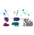 set of grunge vector image vector image
