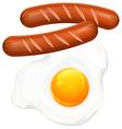 egge sausage vector image vector image