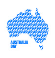 Australia Day Map of Australia from kangaroo vector image