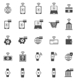 Fintech icons on white background vector image