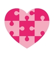 heart in puzzle pieces icon vector image