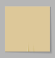 A sheet of paper on a gray background vector image