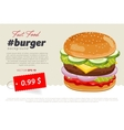 Cheeseburger sale banner template vector image
