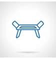 Clotheshorse blue line icon vector image