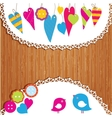 Colorful buntings garlands and paper vector image