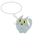 Cute cat and speech bubble for text vector image