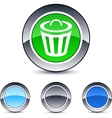 dustbin round button vector image