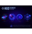 Futuristic HUD interface elements vector image