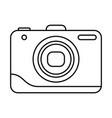 line icon photo camera vector image