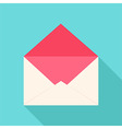 White and pink open envelope vector image