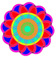 Abstract colorful geometric fracral mandala vector image