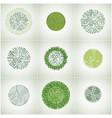 circuit board circles digital technologies vector image