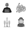 technology restaurant and other monochrome icon vector image