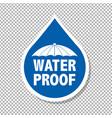 water drop label vector image