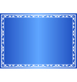 blue decorative frame with gradient vector image