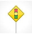 Traffic lights ahead vector image