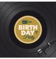 vinyl birthday party vector image vector image
