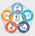 Business management circle origami style options vector image