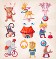 Circus animals doing tricks vector image