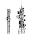 communication towers vector image vector image