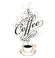 coffee cup with steam vector image vector image