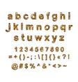 decorative English alphabet hand-drawn vector image