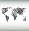 Geometric map of the world vector image