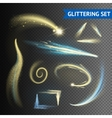 Gold Glittering Elements vector image
