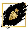 grapes sign golden icon at vector image