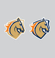 horse head logotype vector image