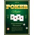 Poker Tournament Poster vector image