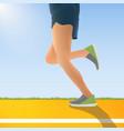 running man marathon cardio workout in the fresh vector image