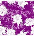 Seamless abstract waves pattern floral backgroun vector image