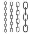 Set of Different Metal Chains vector image