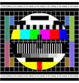 Test TV screen vector image