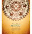 vintage hand-drawn abstract flowers pattern vector image
