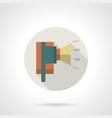 industrial horn siren flat round icon vector image