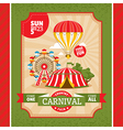 Country fair invitation card vector image