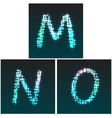 M N O vector image