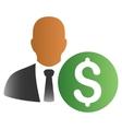 Banker Gradient Icon vector image