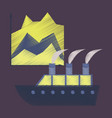 flat shading style icon cruise ship infographic vector image