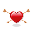 Heart And double Arrows vector image