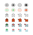 mail service icon set vector image